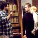 Director Neil LaBute with Aaron Eckhart and Gwyneth Paltrow on the set of Warner Bros' Possession - 2002