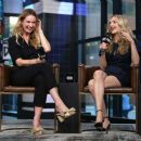 Amanda Seyfried and Lily James – Visit AOL Build Series in NYC - 454 x 389