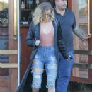 Khloe Kardashian in Ripped Jeans Out in Los Angeles
