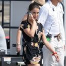 Jessica Lowndes on the set of the latest episode in Manhattan Beach, California on August 8, 2012