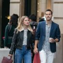 Melissa Benoist and Chris Wood – Strolling on Rue Royale in Paris 09/24/2018 - 454 x 682