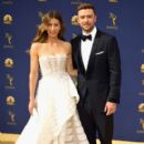 Justin Timberlake and Jessica Biel : 70th Emmy Awards - 405 x 600