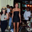 Hailey Baldwin in Little Black Dress – Night out in New York - 454 x 623