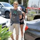 Ariel Winter in Black Shorts Arriving at a private gym in LA - 454 x 596