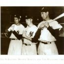 Ted with Joe Dimaggio & Mickey Mantle