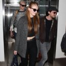 SOPHIE TURNER Arrives at LAX Airport in Los Angeles
