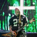 Guitarist Kerry King of Slayer performs onstage at the 2014 Revolver Golden Gods Awards at Club Nokia on April 23, 2014 in Los Angeles, California