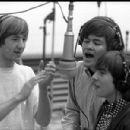 Peter Tork, Micky Dolenz, and Davy Jones recording