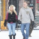 Heidi Montag and Spencer Pratt spotted out for a stroll on a snowy day in Aspen, Colorado on December 28, 2014 - 454 x 540