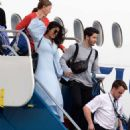 Priyanka Chopra and Nick Jonas – Arriving in the Caribbean