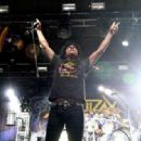 Singer Joey Belladonna of Anthrax performs during the Las Rageous music festival at the Downtown Las Vegas Events Center on April 21, 2017 in Las Vegas, Nevada - 454 x 317