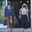Annabelle Wallis and Chris Pine – Shopping in Los Angeles - 454 x 463