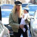 Candice Swanepoel With Her Son Out in NYC - 454 x 586