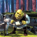 The ogre Shrek (Mike Myers) and his donkey sidekick (Eddie Murphy) in Dreamworks' Shrek - 2001