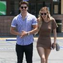 Bella Thorne in Short Dress Leaving Rite Aid with Gregg Sulkin in Studio City