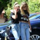 Miley Cyrus and Kaitlynn Carter in Jeans – Out in Los Angeles