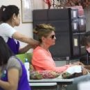 Lori Loughlin was spotted getting her nails done and a massage in Beverly Hills, California on August 4, 2016