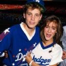 Corey Haim and Alyssa Milano - Go Dodgers!