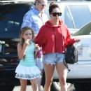 Ashley Tisdale in Jeans Shorts Visits Gelson's Markets in LA