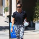 Ashley Tisdale – Hits the gym wearing skull leggings in Studio City