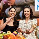 Nina Dobrev and Vanessa Hudgens at 'Despierta America' TV show in Miami