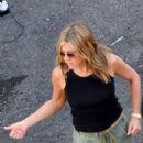 Jennifer Aniston – Leaving the set of MURDER MYSTERY in Como