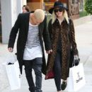 Ashlee Simpson and husband Evan Ross out shopping at OnePiece in West Hollywood, California on January 8, 2015 - 454 x 570