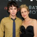 "Freddie Highmore and Vera Farmiga arrive at ""The Bates Motel"" party presented by A&E and the Hollywood Reporter at Comic-Con International in San Diego on July 20, 2013"
