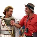 Alexander (Colin Farrell) works on a scene with director Oliver Stone.