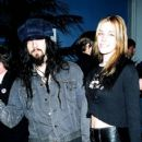 Rob and Sheri Moon Zombie during 1995 MTV Rock the Vote in Los Angeles, California - 406 x 612