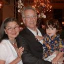 Ray Manzarek and Dorothy Fujikawa with their grandchild Noah