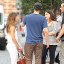 Keri Russell with Matthew Rhys – In tank top while out in Tribeca - 454 x 615