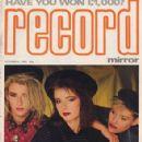 Siobhan Fahey, Keren Woodward, Sara Dallin - Record Mirror Magazine Cover [United Kingdom] (6 October 1984)