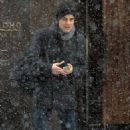 Paul Wesley braving the snow in NYC (January 21)