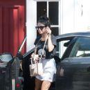 Vanessa Hudgens In Mini Skirt Out In La