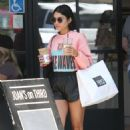 Vanessa Hudgens in Shorts at Alfred Coffee in Studio City