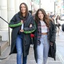 Gina Rodriguez and Rosario Dawson – On the 'Someone Great' set in NY - 454 x 622