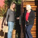 Renee Zellweger takes her parents Emil and Kjellfrid out for lunch at the Kreation Cafe in Santa Monica, California on December 26, 2013
