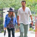 Pregnant singer Fergie and her husband Josh Duhamel attending church in Brentwood, California on August 4, 2013