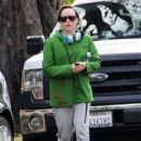 Ellen Page is seen leaving the gym after a workout in Los Angeles, California on December 17, 2014
