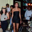 Hailey Baldwin in Little Black Dress – Night out in New York