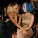 Rihanna and Katy Perry in the audience at the 54th Annual GRAMMY Awards held at Staples Center on February 12, 2012 in Los Angeles
