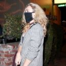 Peyton List – grabs a bite with friends at Delilah in West Hollywood