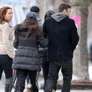 "Megan Fox and Brian Austin Green - on the set of ""Friends with kids"" - February 17, 2011"