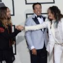 Jared Leto, Smokey Robinson and Steven Tyler at the 56th annual Grammy Awards on January 26th, 2014 - 454 x 299