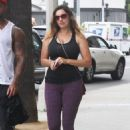 Kelly Brook Leaving A Gym In West Hollywood
