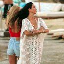 Nicole Scherzinger – On a photoshoot on the beach in Mykonos