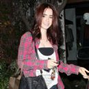 Lily Collins Steps Out After 'Mortal Instruments' Trailer Debut