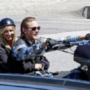 Charlie Hunnam on the set of