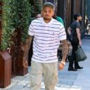 Chris Brown out in SoHo (August 9)